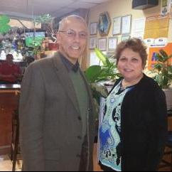 Anna Alvarez with Ian G. Hall