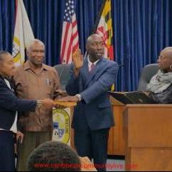 S. Donnie Bridgeman being sworn in as Council Member of Bladensburg Maryland